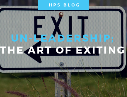 Un-Leadership – The Art of Exiting