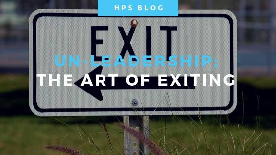 Un-leadership - the art of exiting